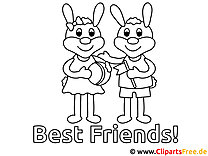 Best Friends Coloring Sheet