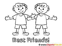 Beste Freunde Ausmalbilder