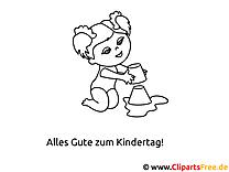 Bilder ausmalen am PC zum Kindertag