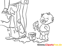 Coloring Page Kid, Baby