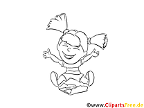 Girl Free Online Coloring Page