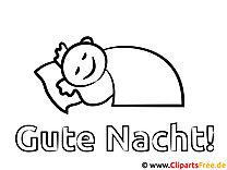 Gute Nacht Malvorlage