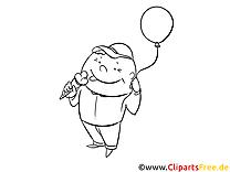 Kind mit Eis Ausmalbild