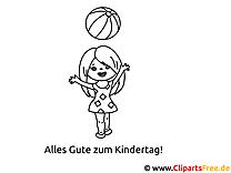 Kinder Sport Bild zum Ausmalen
