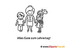 Lehrerin und Kinder Malvorlagen