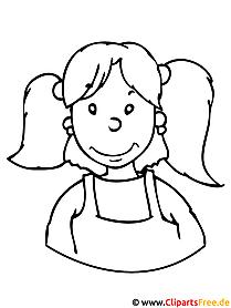 Kinder Malvorlagen - Mädchen Malvorlage