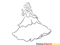 Ausmalbild Prinzessin, Bild, Download