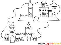 Ausmalbilder Burge