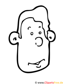 Ausmalbild zum Ausdrucken Cartoonkopf
