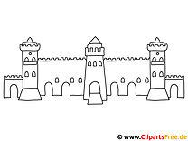 Kostenlose Malvorlage Burg