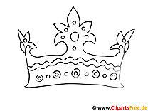 Krone Bild zum Ausmalen