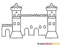 Malvorlage Burg