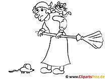 Malvorlage Hexe auf Beseb kostenlos