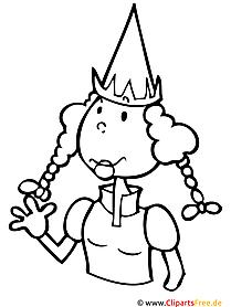 Malvorlage Prinzessin zum Ausmalen
