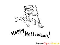 Malvorlage witzige Katze