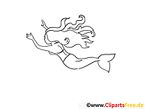 Meerjungfrau Ausmalbilder Märchen