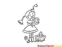 Pippi Langstrumpf Malvorlage, Illustration, Bild