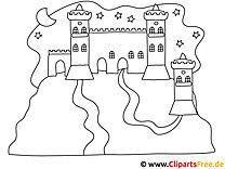 Schloss Ausmalbild