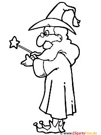 Zauberer Malvorlage - Malvorlagen zum Ausdrucken