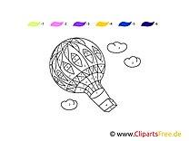 Bild Malen nach Zahlen Heissluftballon