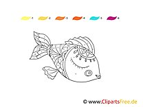 Malowanie po numerach ryba