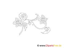 Muster Blume zum Ausmalen