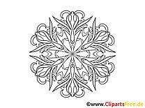 Blüte Muster Mandala Malvorlage zum Ausmalen