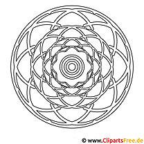 Mandala zum Ausdrucken und Ausmalen