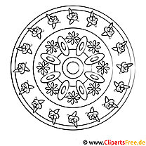 Mandala zum Malen