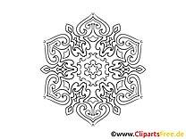 Zeichnung Mandala Malvorlage zum Ausmalen