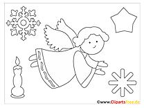 Angel Christmas Colorings for free