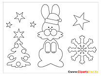 Christmas Coloring Winter for free