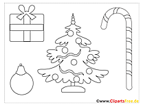 Christmas Tree Coloring for free