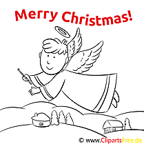 Engel Flügel Merry Christmas Coloring Templates