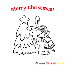 Hase Weihnachtsbaum Merry Christmas Coloring Sheets, Malvorlagen
