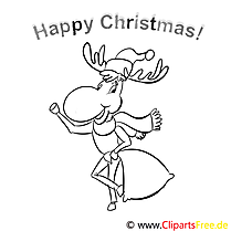 Hirsch Sack Merry Christmas Coloring Sheets, Malvorlagen