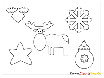 Moose Christmas Coloring Page