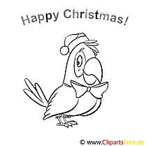 Papagei Schleife Merry Christmas Coloring Sheets, Malvorlagen