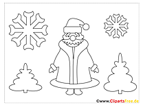 Santa Christmas Colorings for free