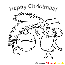 Weihnachtsspielzeug Santa Claus Happy Christmas Pages to color, Malbilder