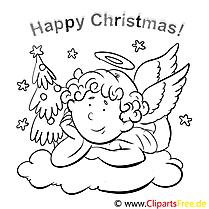 Wolke Engel Merry Christmas Coloring Sheets Malvorlagen
