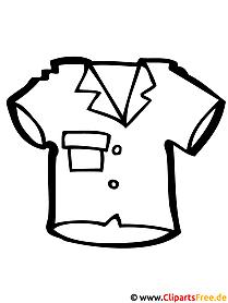 Bild zum Ausmalen Hemd