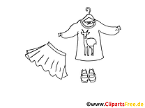 Garderobe Clipart, Bild, Illustration, Grafik,  Image kostenlos