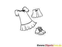 Kleidung für Mädchen Malvorlage