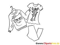 Kleidung Herbst Ausmalbild für Kinder kostenlos ausdrucken
