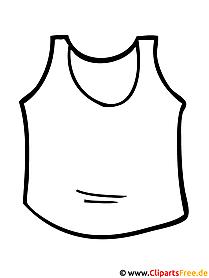 Mode Malvorlagen Unterhemd