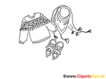 Pulli Schuhe Mode Ausmalbild