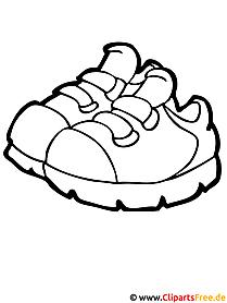 Schuhe Ausmalbild - Ausmalbilder kostenlos