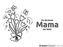 Blumenstrauss für Mama - Glückwunschkarten zum Muttertag selbst basteln