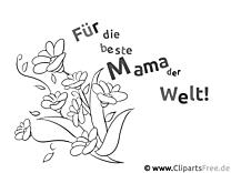 eCard für Mama zum Muttertag zum Selbstmalen